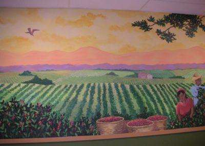 Coffee growing Juan Valdez mural in Alexandria, VA