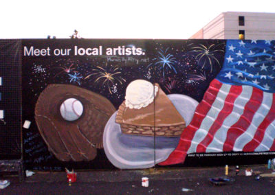 As American as baseball and apple pie mural in Washington DC