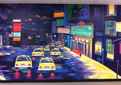 Broadway New York City mural in Manssas VA
